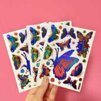 蝶々 キラキラ シール 3枚セット ⑦  BUTTERFLY STICKER