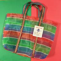 カラフル ナイロン 編みバッグ