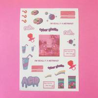 Vaporwave シール ピンク ①  PINK
