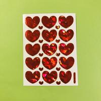 ハート 赤 ③ キラキラ シール red heart sticker