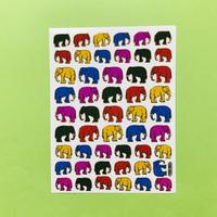 ゾウ 象 ② キラキラ シール ELEPHANT STICKER
