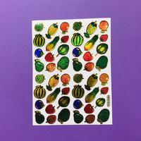 フルーツ ⑤ キラキラ シール FRUIT STICKER