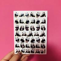 パンダ ② キラキラ シール PANDA STICKER