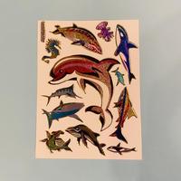 イルカ ⑥ キラキラ シール  DOLPHIN  STICKER