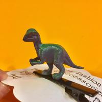 恐竜 ヘアクリップ アクセサリー 紫/緑 Dinosaur Hair clip purple/green