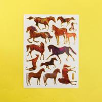 馬 ③ キラキラ シール HORSE STICKER