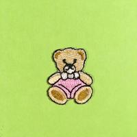 クマ くま 熊 アイロンワッペン ミニサイズ 可愛い BEAR IRON PATCH
