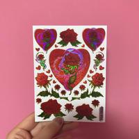 薔薇 ハート シール ROSE HEART STICKER