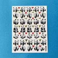 パンダ ③ キラキラ シール PANDA STICKER