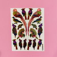 鳥 ③ キラキラ シール BIRD STICKER