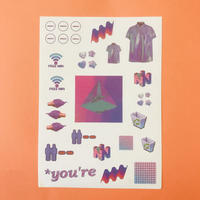 Vaporwave シール 紫 ② PURPLE