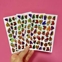フルーツ キラキラ シール 3枚セット ③  fruit stickers