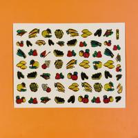 フルーツ ⑧ キラキラ シール   FRUIT STICKER