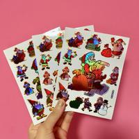 クリスマス ② シール 3枚セット Christmas sticker