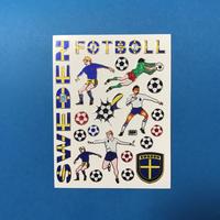 スウェーデン サッカー キラキラ シール SWEDEN FOOTBALL STICKER