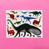 恐竜 ④  キラキラ シール  DINOSAUR STICKER