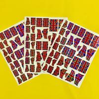イギリス  国旗 キラキラ シール 3枚セット UK FLAG STICKER