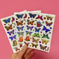 蝶々 キラキラ シール 3枚セット ④  BUTTERFLY STICKER