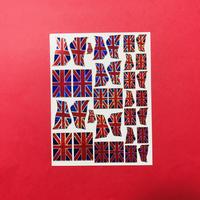 イギリス  国旗 キラキラ シール UK FLAG STICKER
