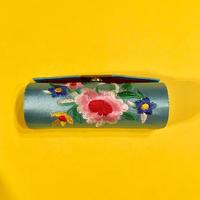 口紅ケース 台湾 刺繍 水色