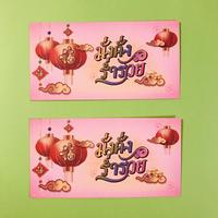 旧正月 ピンクの封筒 ⑦  2枚セット