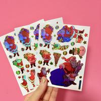 クリスマス ④ シール 3枚セット Christmas sticker