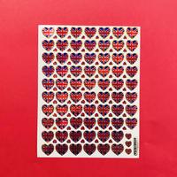 イギリス国旗 ミニハート キラキラ シール UK FLAG MINI HEART STICKER