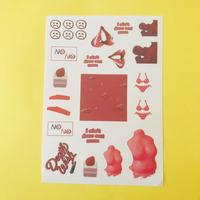 Vaporwave シール 赤 ② RED