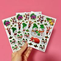 クリスマス ⑤ シール 3枚セット Christmas sticker