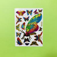 蝶々 ⑥ キラキラ シール BUTTERFLY STICKER