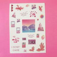 Vaporwave シール ピンク ②  PINK