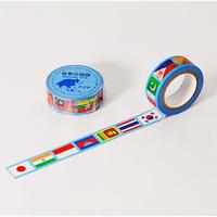 世界の国旗 アジア編 マスキングテープ MASKING TAPE