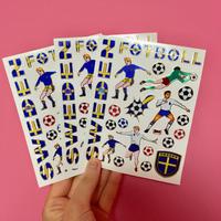 スウェーデン サッカー キラキラ シール 3枚セット