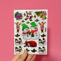 クリスマス ⑤ キラキラ シール CHRISTMAS STICKER