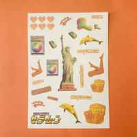 Vaporwave シール 黄色 ①  YELLOW