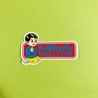 ようこそ タイ語 英語 赤 男の子 シール WELCOME STICKER
