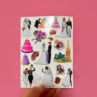 結婚式  キラキラ シール WEDDING STICKER
