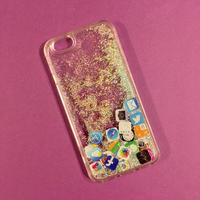 iPhoneケース 6/6s シルバーラメ アイコン