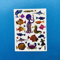 海の生き物 ③ キラキラ シール SEA ANIMAL STICKER