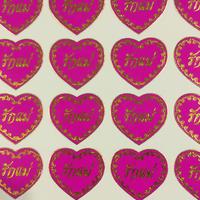 タイ語 ハート ピンク シール THAI HEART PINK STICKER