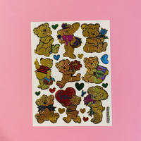 金色のクマ ③ キラキラ シール  GOLD COLOR BEAR STICKER