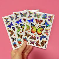 蝶々 キラキラ シール 3枚セット ⑤  BUTTERFLY STICKER