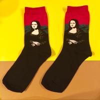 モナリザ ピンク 靴下 名画 アート MONA LISA ART SOCKS PINK