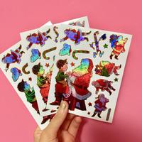 クリスマス ③ シール 3枚セット Christmas sticker