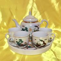 龍と鳥 ティーセット6点セット  DRAGON AND BIRD TEA SET