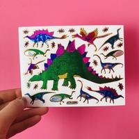 恐竜 ③ シール キラキラ  DINOSAUR STICKER