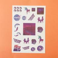 Vaporwave シール 紫 ④ PURPLE