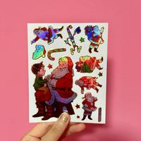 クリスマス ③ キラキラ シール CHRISTMAS STICKER