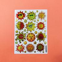 太陽 キラキラ シール SUN STICKER