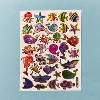 海の生き物 ② キラキラ シール SEA ANIMAL STICKER
